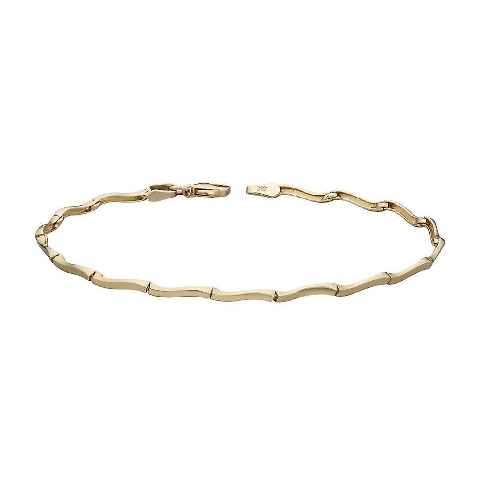 Joshua James Precious 9ct Yellow Gold Wavy Link Bracelet