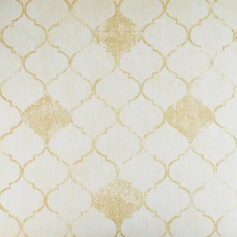 Climado estilo marroquí Trellis Wallpaper dos tonos crema beige pasta la pared