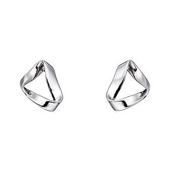 Fiorelli Silver Folded Stud Earrings