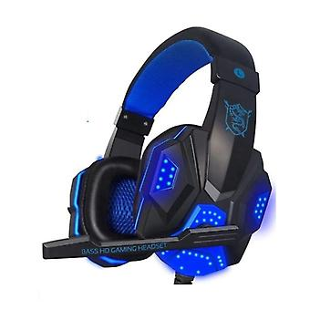 EastVita PC780 Gaming Headphones Headset Headphones Over Ear with Microphone Blue