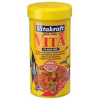 Vitakraft hiutale Mix (kala, ruoka, lämmintä vettä)