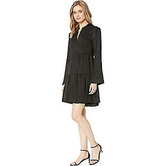BCBGMAXAZRIA Women's Day Short Woven Dress Black Medium