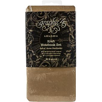 Graphic 45 Staples Notebook Set 4.25