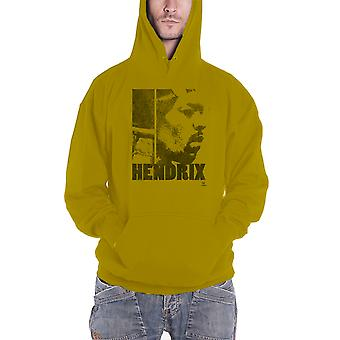 Jimi Hendrix Hoodie Let Me Live Logo new Official Mens Green Pullover