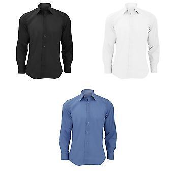 Cuidado fácil Russell colección para hombre largo manga polivinílico-algodón adaptado camisa popelin