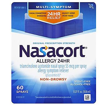 Nasacort allergy 24 hr, original prescription strength, 60 sprays