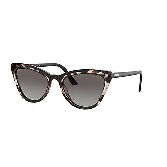 Prada SPR01V 3980A7 Opal Spotted Brown-Black/Grey Gradient Sunglasses
