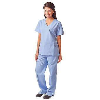 Women's Button Mock Wrap Medical Scrubs