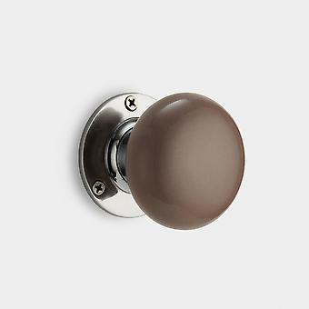 Ceramic Interior Door Knob - Grey
