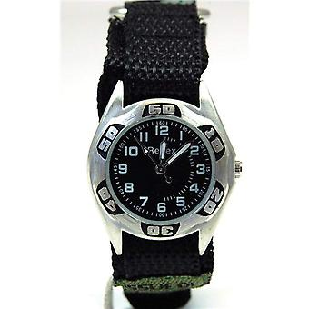 Reflex Boys Green Camouflage szövet Easy Fasten szíj Watch 1017111C
