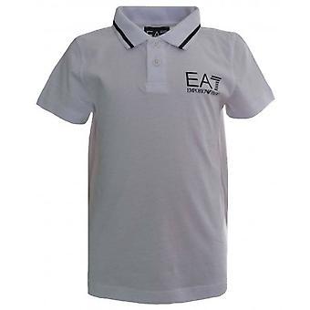 EA7 Boys EA7 Kids White Short Sleeved Polo Shirt