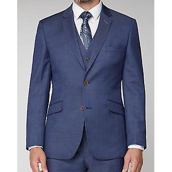 Plain Navy Pin-Dot Suit Jacket