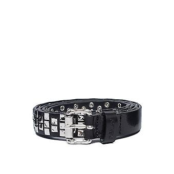 Replay Unisex Douglas Leather Belt With Studs Unisex