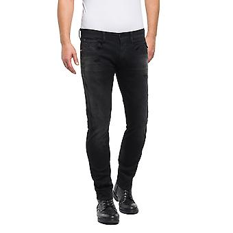 Replay Men's Hyperflex+ Slim Fit Washed Jeans
