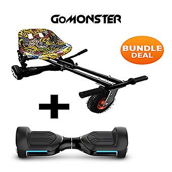 "6.5"" G PRO Black Bluetooth Hoverboard with Go Monster Hoverkart in Hip Hop"