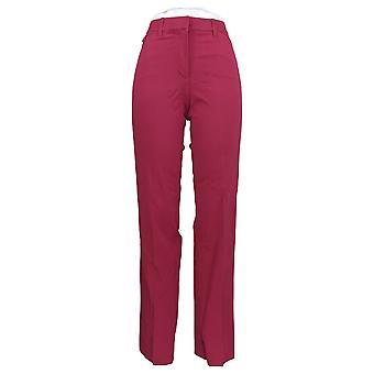 Isaac Mizrahi Live! Dames's Pants Stretch Straight Leg Purple A286099