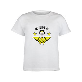 DC Comics Wonder Woman My Mum Is Wonder Woman Girls T-Shirt | Official Merchandise