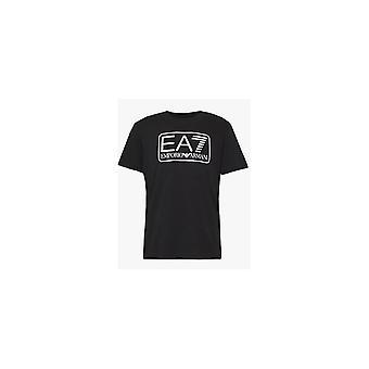 Emporio Armani EA7 Cotton Printed Logo Black T-shirt