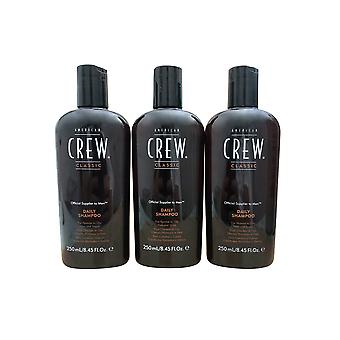 American Crew Classic Daily Shampoo 8.45 OZ Pack of 3
