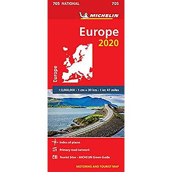 Europe 2020 - Michelin National Map 705 - Map - 9782067243989 Book