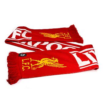 Liverpool FC Wordmark Football Soccer Supporters Scarf Red/White