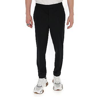 Neil Barrett Pbpa635p02271 Men's Black Viscose Pants