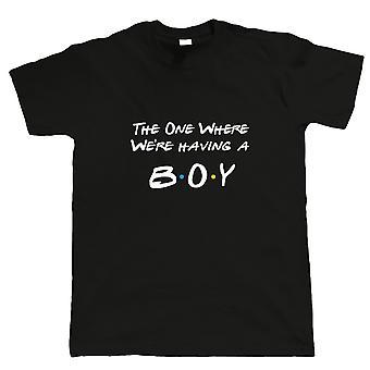 Den ene, hvor Vi & apos;re Have A Boy, Herre T Shirt-TV Gravide Venner Mor Far