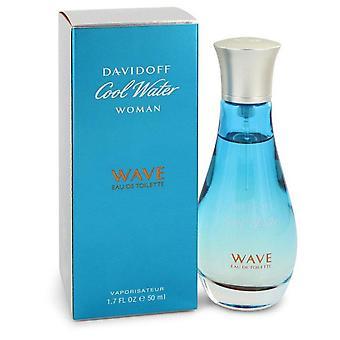Cool Water Wave Eau De Toilette Spray By Davidoff 1.7 oz Eau De Toilette Spray