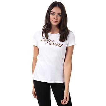 Frauen's Vero Moda Hallo schöne T-Shirt in weiß