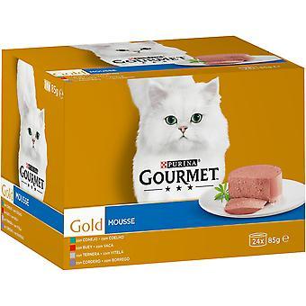 Gourmet Gold Mousse MultiPack: Conejo, Buey, Ternera, Cordero