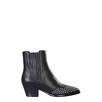 Ash Hooky02 Women's Black Leather Ankle Boots