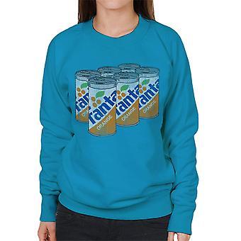Fanta Orange 1980s Retro Cans Women's Sweatshirt