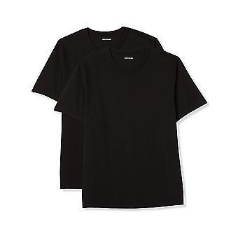 Essentials Men's Big & Tall 2-Pack Short-Sleeve Crewneck T-Shirt, Blac...