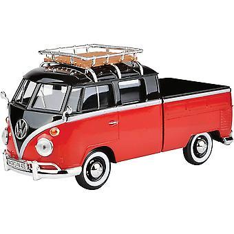 MotorMax VW Double Cab pick-up rood & zwart 1:24