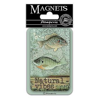 Stamperia Fish 8x5.5cm Magnet