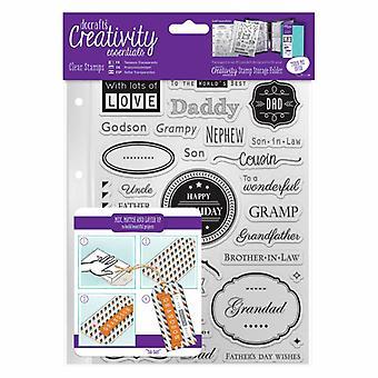 DocraftsA5 Clear Stamp Set (36pcs) - Male Family