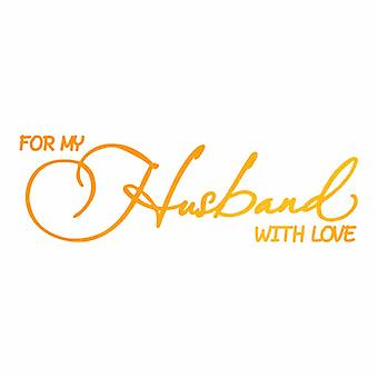Ultimate Crafts Hotfoil Stamp Husband with Love (3.2 x 1in) (ULT158105)