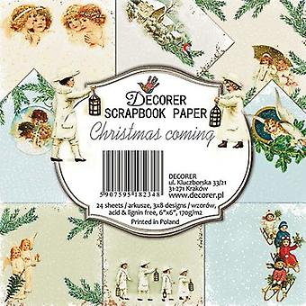 Decorer Christmas Coming 6x6 Inch Paper Pack