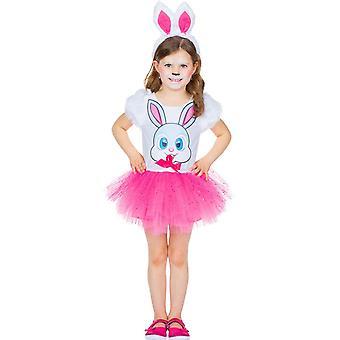 Sweet Rabbit Kinder Hase Kostüm Häschen Kleid Kaninchen 2-teilig Haarreif mit Ohren