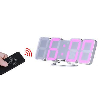 Loskii hc-26 3d colorful led digital clock remote control temperature alarm clock