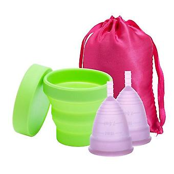 Medical Silicone Menstrual Cup - Sterilizer Feminine Hygiene Menstrual Cup  For Women Menstrual Period
