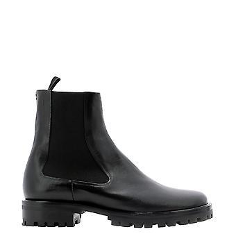 Halmanera Maite23nero Women's Black Leather Ankle Boots