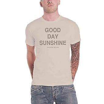 البيتلز تي شيرت يوم جيد الشمس المشرقة نص مسدس جديد الرسمية الرجال الرمال