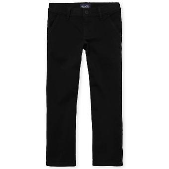 The Children's Place Big Girls' Uniform Pants, Black 43302, 14