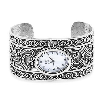 Bali Collection - EON 1962 Swiss Movement Water Resistant Filigree Cuff Watch