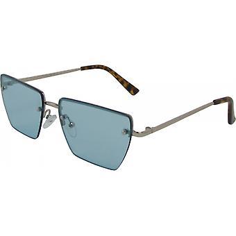 Sonnenbrille Unisex  rechteckig Kat. 3 silber/blau (3240-B)