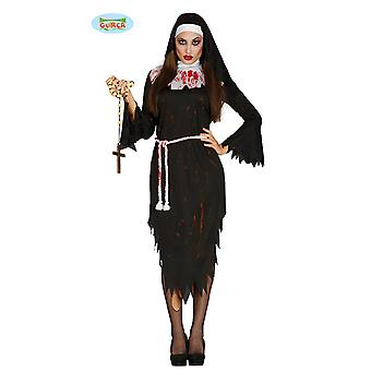Costume Halloween horreur Carnaval Carnaval morts-vivants de Zombie Nun femmes