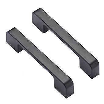 2PCS Zink legering kast handvatten lade deurgrepen Zwart 224mm