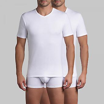 Tee-shirt Homme Blanc Manche Courte