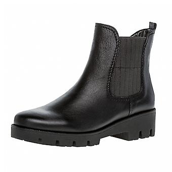 Gabor Newport Modern Wide Fit Ankle Boots In Black